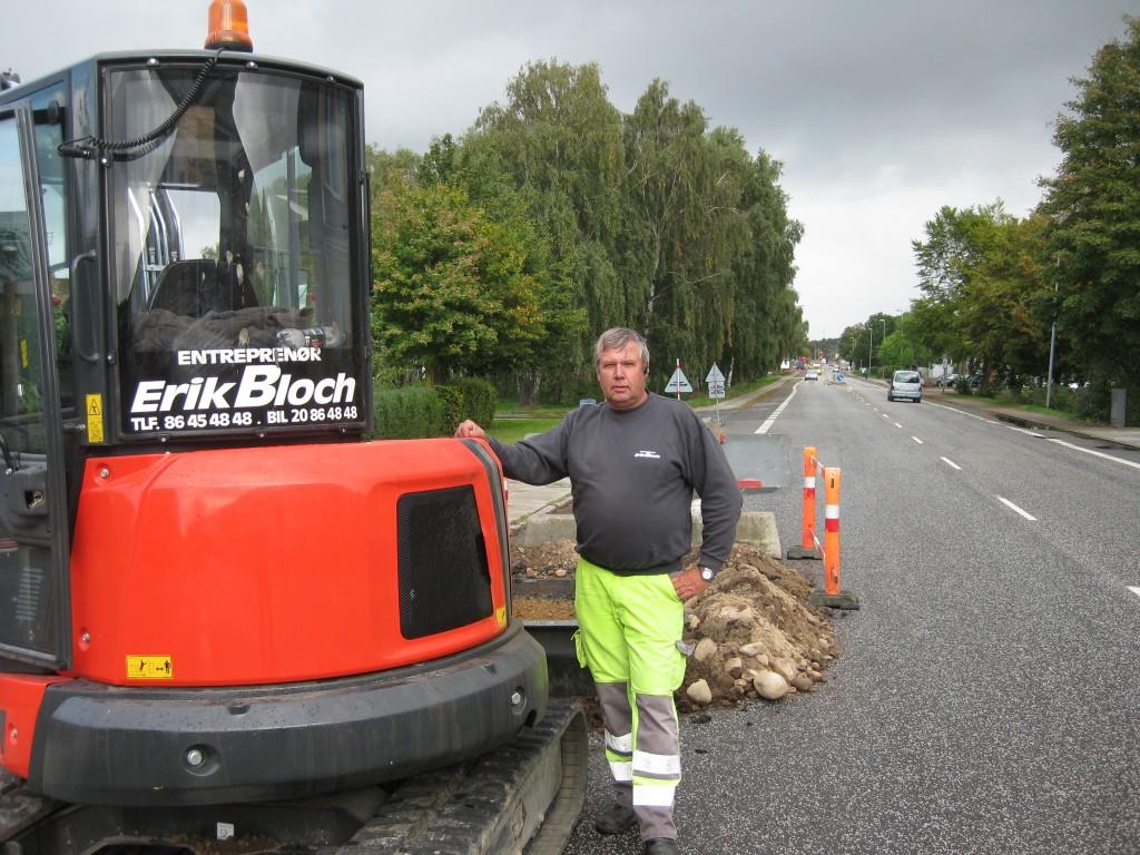 Stor kontrakt til Erik Bloch fører til køb af ny Eurocomach minigraver - Ib E. Mortensen - Kastbjerg